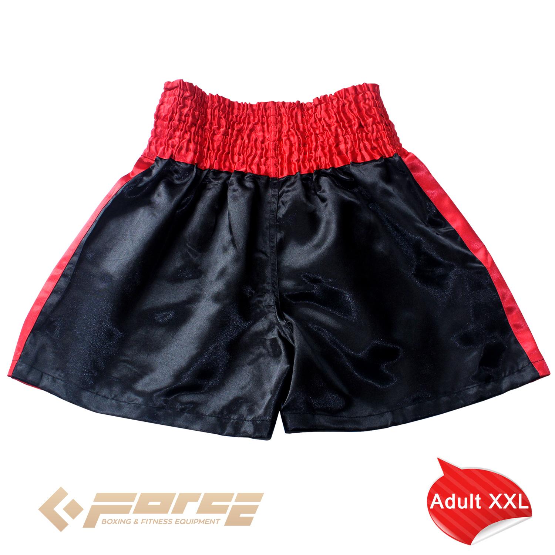 New Adults Men Women Muay Thai Pants Kick Boxing Trunks Satin M-XXXL Black Redst