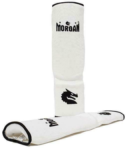 MORGAN ELASTIC SHIN /& INSTEP PROTECTORS thick foam sparring karate sparring