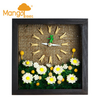 "Miniature Clocks 6x6"" Flower7"