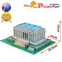 Lincoin Memorial 3D Model Jigsaw Puzzles DIY Educational Puzzles 41 pc C104h