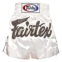 FAIRTEX - White Lace Muay Thai Boxing Shorts (BS0604)