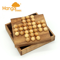 Solitaire Game With Wooden Marble GP104W