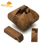 Bread Puzzle Wooden Brain Teasers GP266
