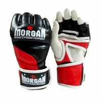 MORGAN V2 Platinum Leather MMA UFC Fight Gloves