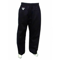 MORGAN DRAGON Martial Arts Black Gi Pants (8Oz)
