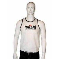 Morgan BOXING MUAY THAI MMA Training Singlet - White