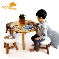 Mix Animal Table + 4 stools Set