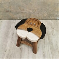 Kids Wooden Stools Dog