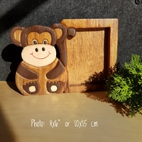 Wooden Photo Frame 6x4 Monkey