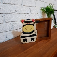 Wooden Photo Frame Zebra
