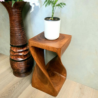 Wood Stump Stool Wooden Side Table Corner Table