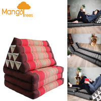 Large Thai Triangle Pillow THREE FOLDS Red