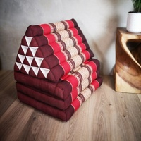 Jumbo Thai Triangle Pillow THREE FOLDS RED