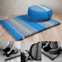 Foldable Zafu & Zabuton Meditation Cushion Set Filled with Organic Kapok Fibre