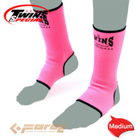 TWINS Special Pro Muay Thai Kick Boxing MMA UFC ANKLE GUARD Pink M