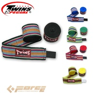 5m TWINS Boxing Cotton Handwraps Rainbow BLACK