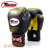 TWINS Pro Leather Gloves Boxing DRAGON FBGV-6