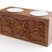 Wooden Tealight Holder Twin-Hole