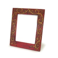"Wooden Photo Frame 6x8"" 36709-RD-PRD237"