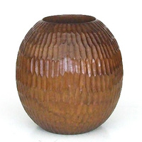 Mango Wood Vase Sculpture Round 6*6
