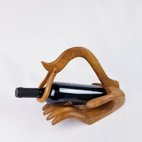 Teak Wood Wine Bottle Holder Oak