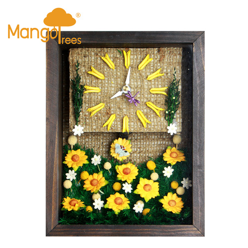"Miniature Clocks 6x8"" Flower-13"
