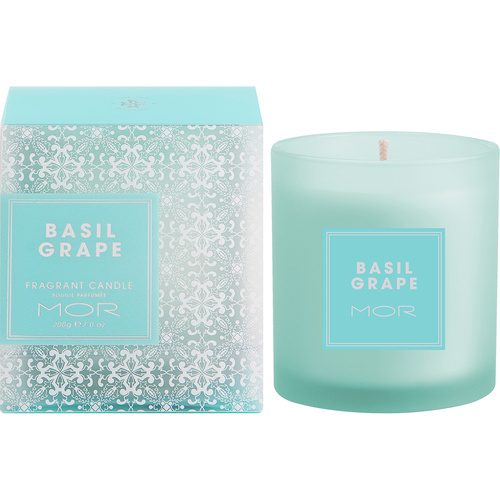 MOR Fragrant Candle 200G Basil Grape